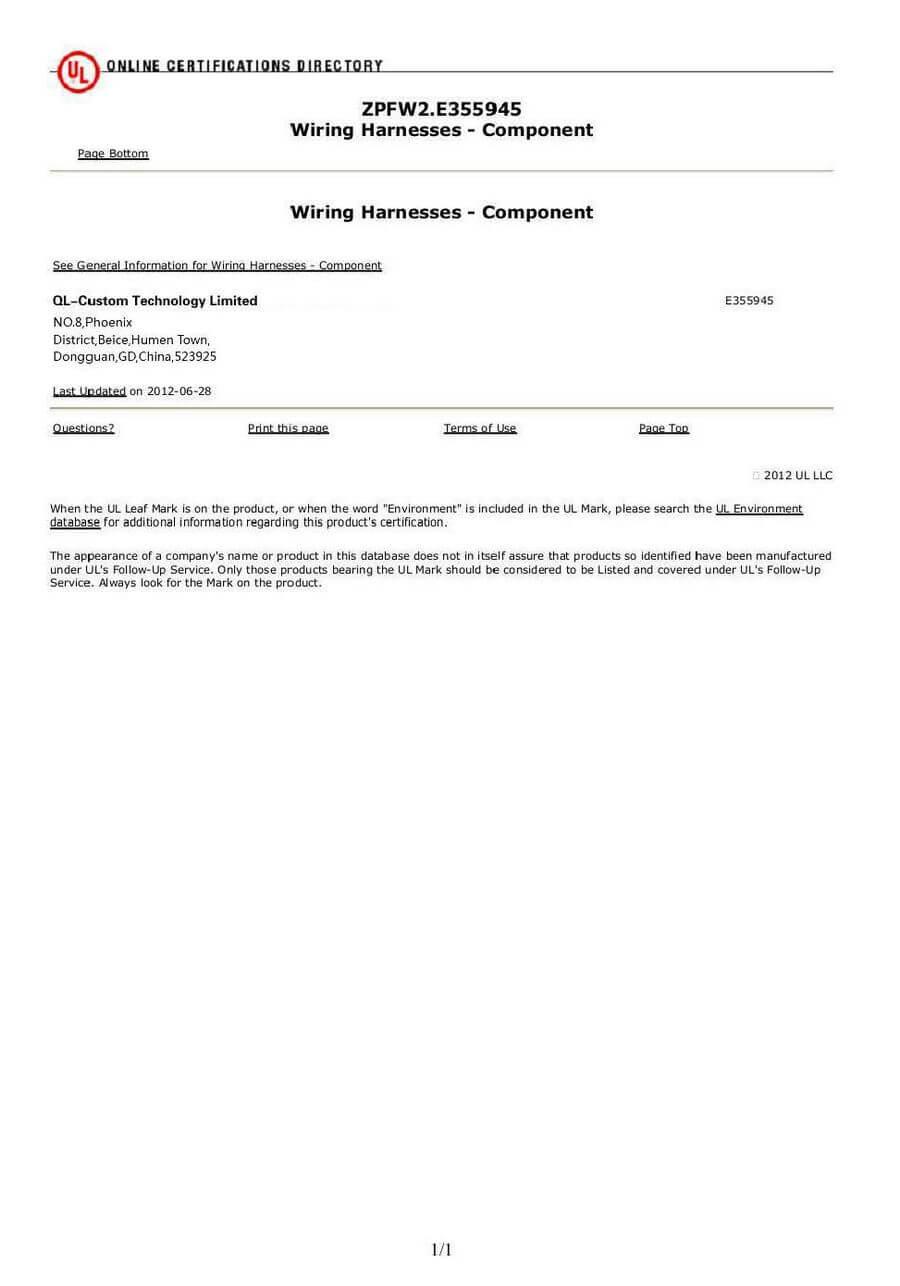 Ul Certificate Ql Custom