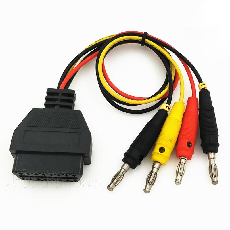 OBD Female 4pin conencted to banana plugs