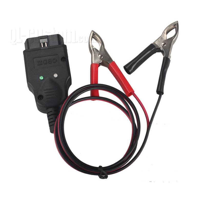 OBD installable Zip cord black and red wire to Battery clamp