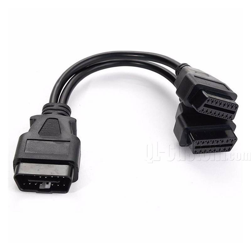 OBD extension male to Female OBDII J1962 connector