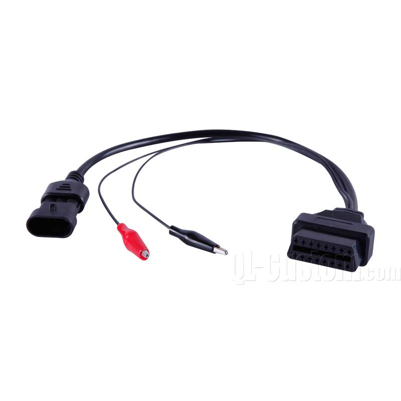 OBDII 16P4C Female to battery clip and Car light control cable
