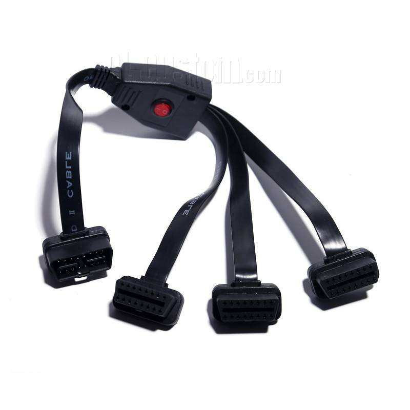 OBDII J1962 cable to female through a button control splitter cable