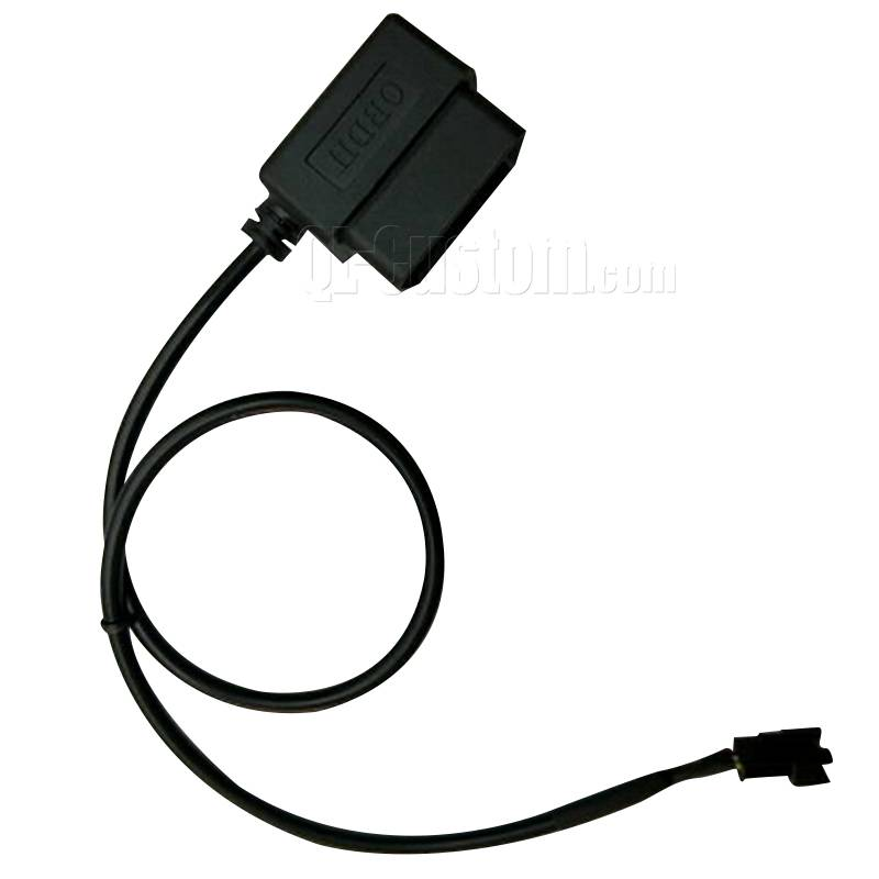OBD male overmolded cable to JST 2Pin  wire to wire connector